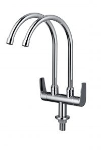 TK-3606S Double Pillar Sink Tap (Chrome)